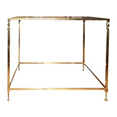 French Maison Jansen Inspired Brass Table