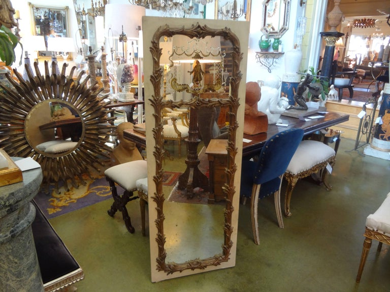 French Maison Jansen Style Chinoiserie Eglomise Mirror, circa 1920 For Sale 3