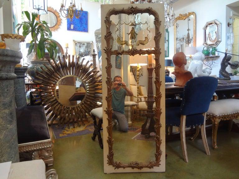 French Maison Jansen Style Chinoiserie Eglomise Mirror, circa 1920 For Sale 4