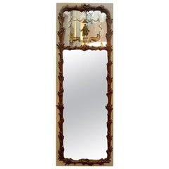 French Maison Jansen Style Chinoiserie Églomisé Mirror, circa 1920