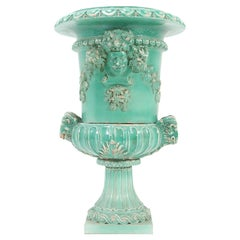 French Majolica Art Nouveau Planter Jardinière in the Style of Jerome Massier