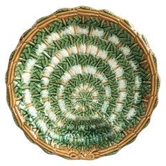 French Majolica Asparagus Plate, circa 1890