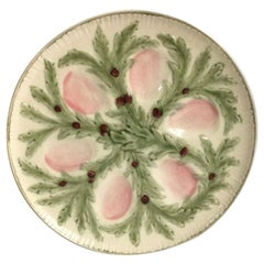 French Majolica Oyster Plate Choisy-le-Roi, circa 1880