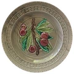 French Majolica Plate Luneville, circa 1880