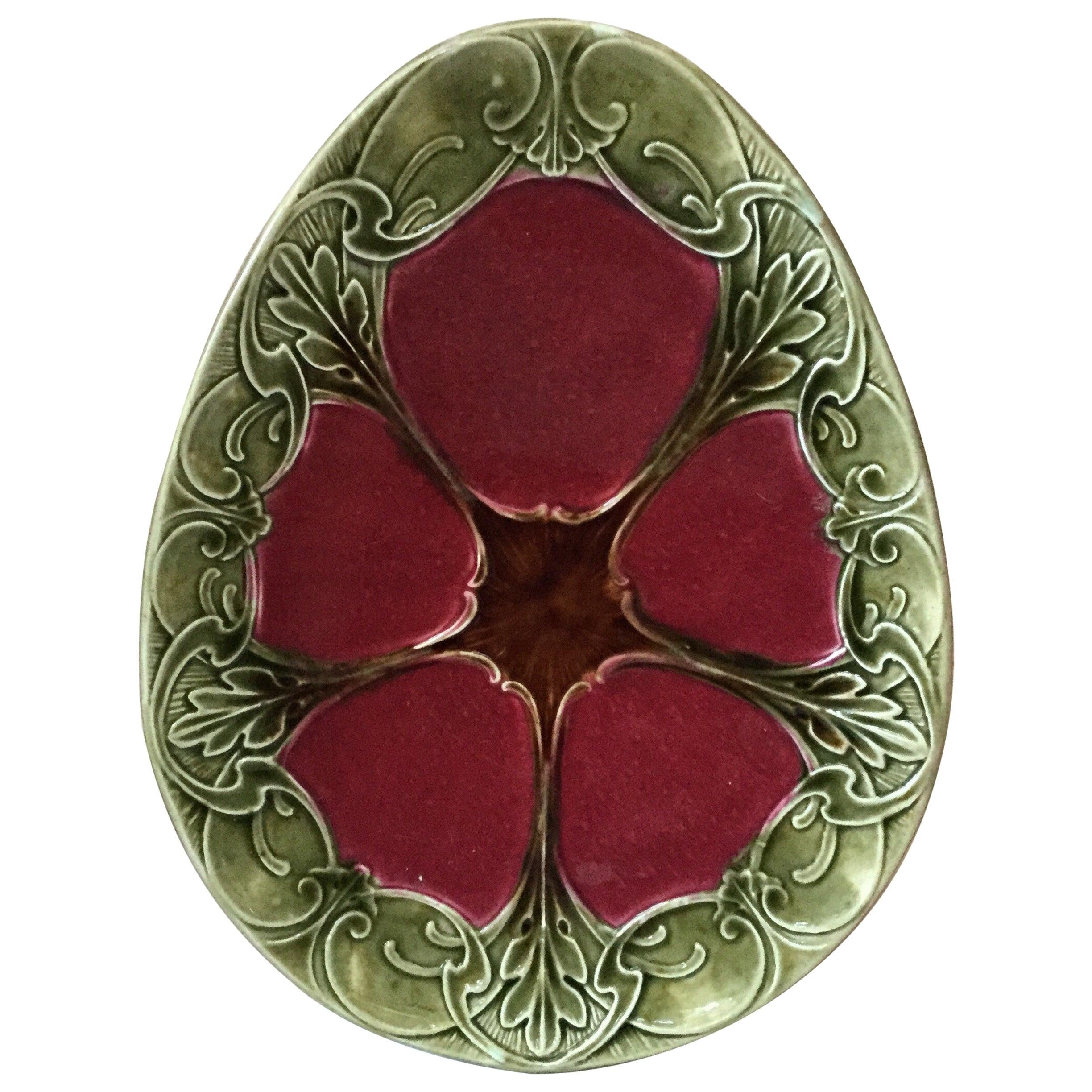 French Majolica Platter Orchies, circa 1890