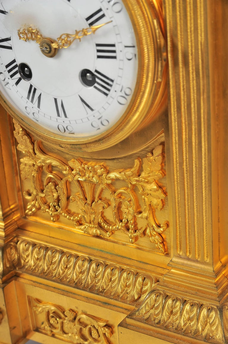 French Mantel Clock, Louis XVI Style, 19th Century In Good Condition For Sale In Brighton, Sussex