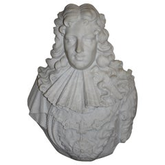 French Marble Bust of Louis XIV, circa 1830