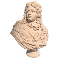 French Marble Bust of Louis XIV, the Sun King