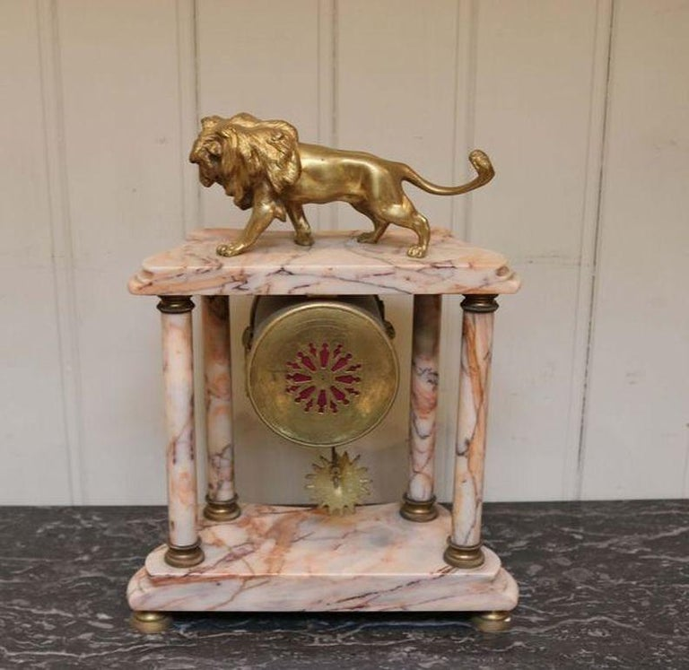 French Marble Clock Garniture For Sale 1