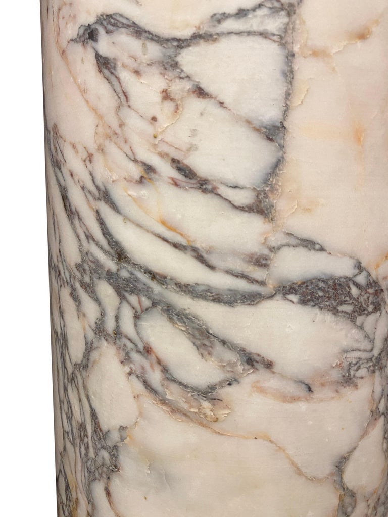 French Marble Column In Fair Condition For Sale In Essex, MA