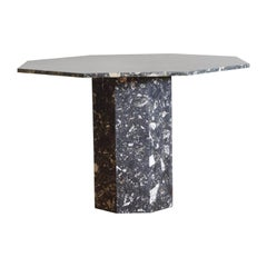 French Marble Octagonal Dining or Center Table, circa 1970