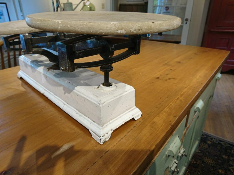 French Marble Pastry Scale In Good Condition For Sale In Sheffield, MA