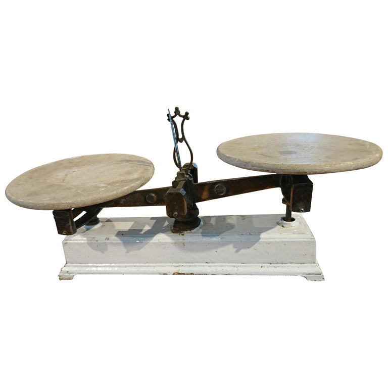 French Marble Pastry Scale For Sale