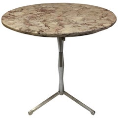 French Marble-Top Bistro Table