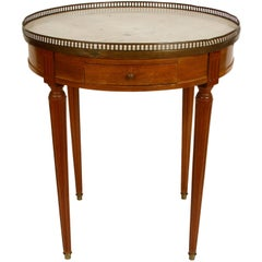 French Marble-Top Bouillotte Table