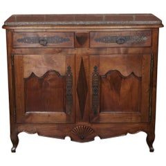 French Marble-Top Buffet