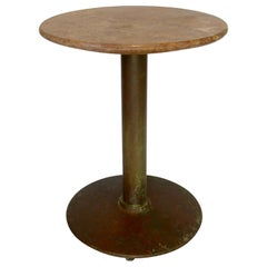 French Marble-Top Cafe Bistro Table