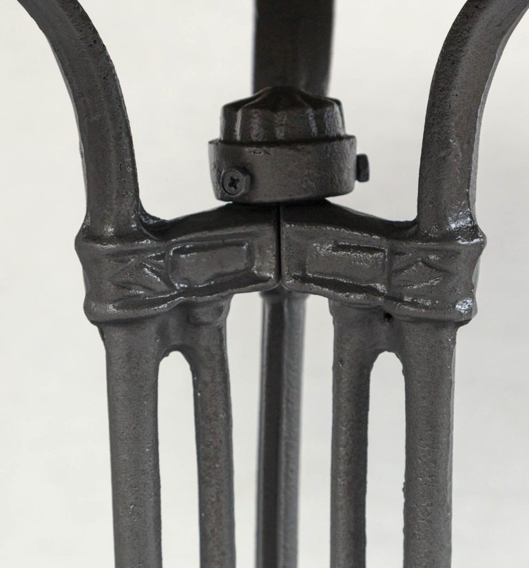 French Marble Top Cast Iron Bistro Table, circa 1900 2