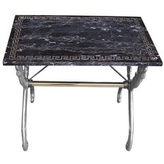French Marble Top Garden Table