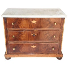French Marble-Top Model Chest, circa 1890