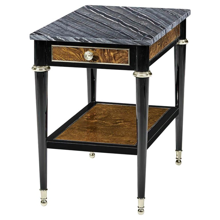 French Marble-Top Side Table For Sale