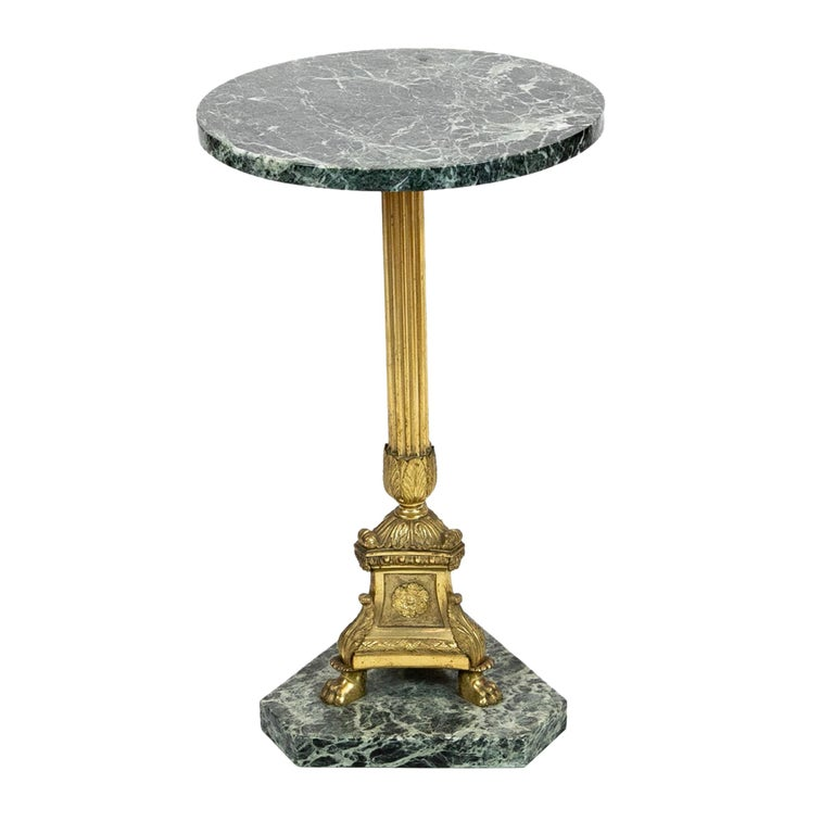 French Marble-Top Table For Sale