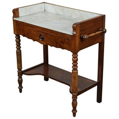 French Marble-Top Washstand or Bar