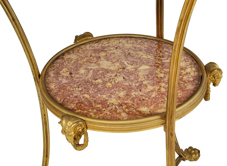 19th Century French Marble Topped Gueridon, circa 1890