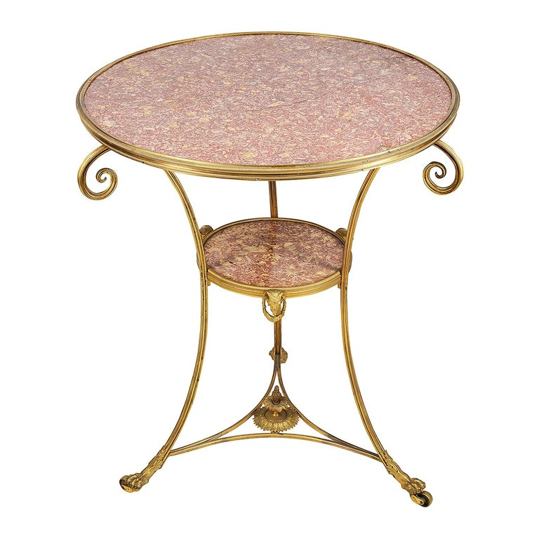 French Marble Topped Gueridon, circa 1890