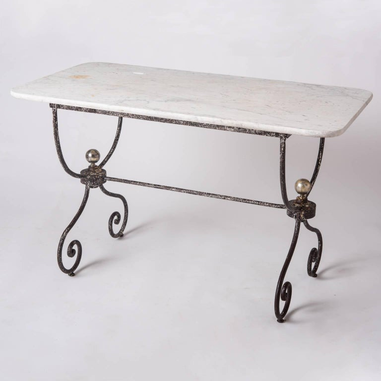 French Marble Topped Table Late 19th Century For Sale 3
