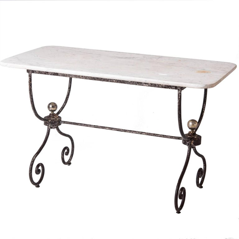 French Marble Topped Table Late 19th Century For Sale