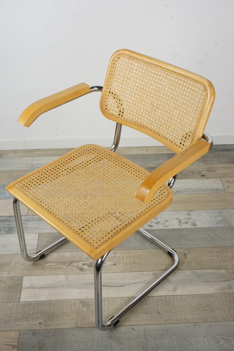 French Marcel Breuer Design Armchair Cesca B64 Model at ...