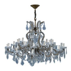 French Maria Theresa Great Chandelier Round Crystal Transparent