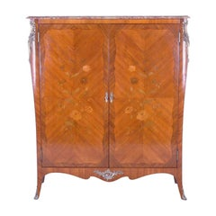 French Marquetry Cabinet Armoire