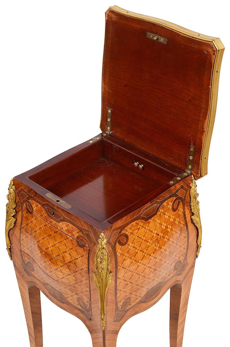 Louis XVI French Marquetry Side Table, circa Late 19th Century in the Style of Linke For Sale