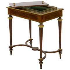 French Marquetry Wine Serving Accent Table by Paul Sormani & Fils