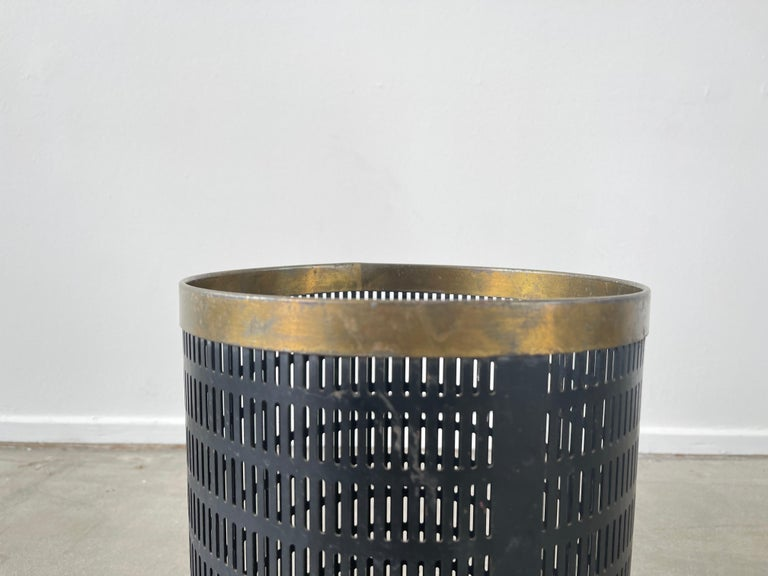 Mid-20th Century French Mategot Style Trash Bin For Sale