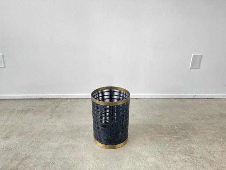 Iron French Mategot Style Trash Bin For Sale