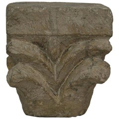 French Medieval Romanesque Limestone Capital