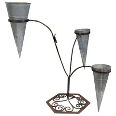 French Metal Florist's Bouquet Holder