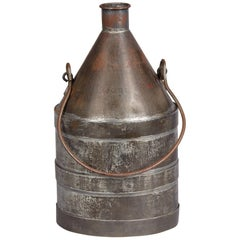 French Metal Oil Can, Early 1900s