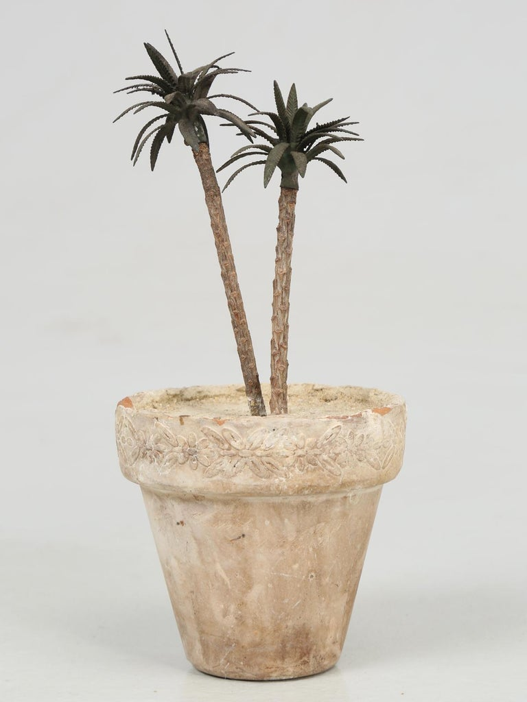 French Metal Palm Trees in Clay Pots For Sale 7