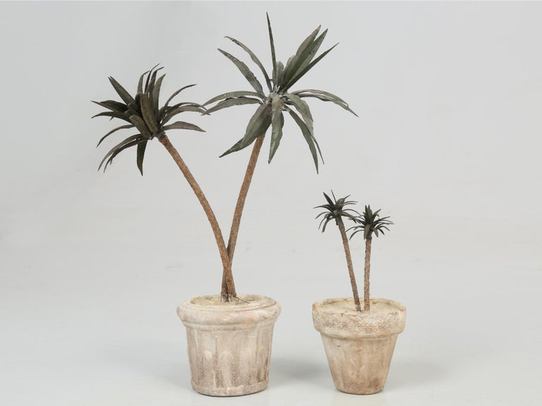 Exquisitely crafted by a French artist, these handmade metal desert plants require no watering and are detailed, so carefully that the longer you look, the more you can begin to appreciate them. We can only guess at their age, but about 50-60 years