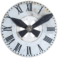 French Metal Wall Clock, circa 1895