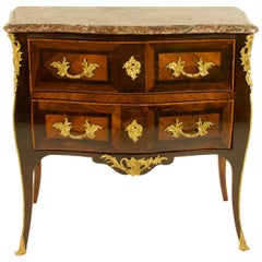 """French Mid-18th Century Louis XV Commode or Sauteuse, Stamped """"J.Saddon/JME"""""""