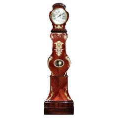 French Mid 18th Century Louis XV Period Tall Case Clock, Circa 1740
