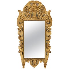 French Mid-18th Century Provincial Giltwood Mirror