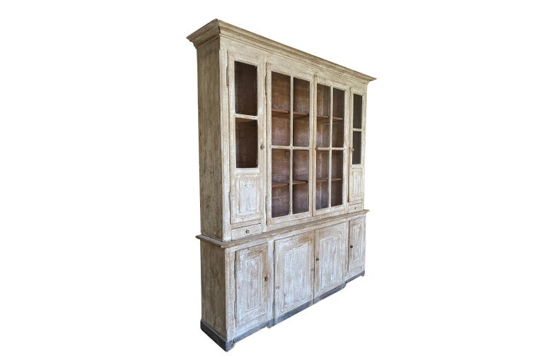 Painted French Mid-19th Century Buffet Deux Coprs For Sale