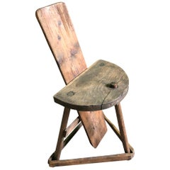 French Mid-19th Century Couteallier Chair