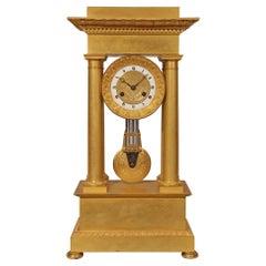 French Mid 19th Century Empire St. Ormolu Clock